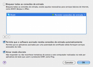 Opções Avançadas de Firewall